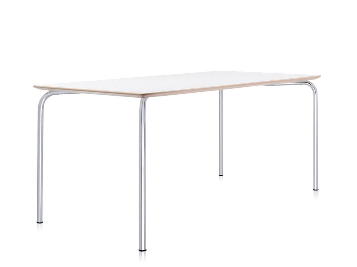 Kartell maui table rectangular cm zinc white by vico