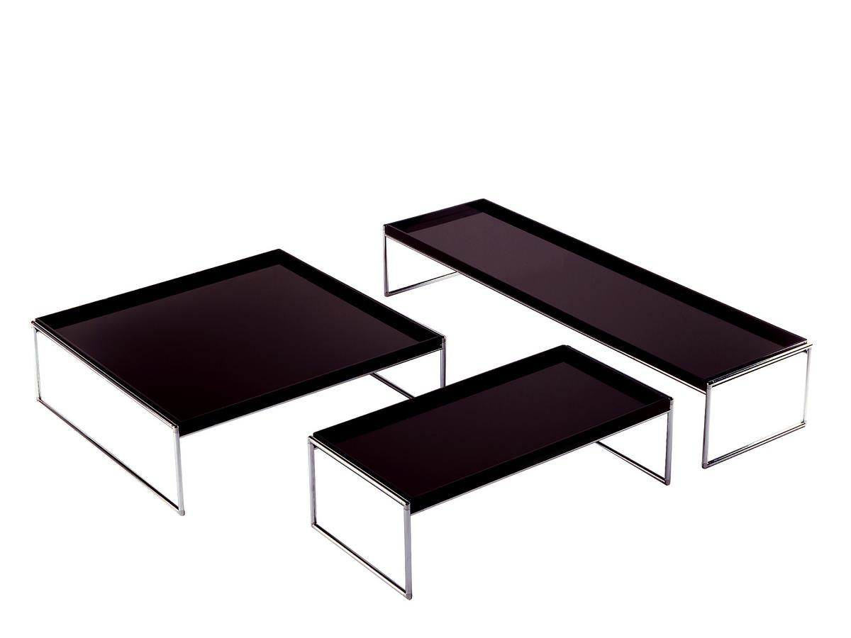 Kartell trays table by piero lissoni designer furniture for Table kartell