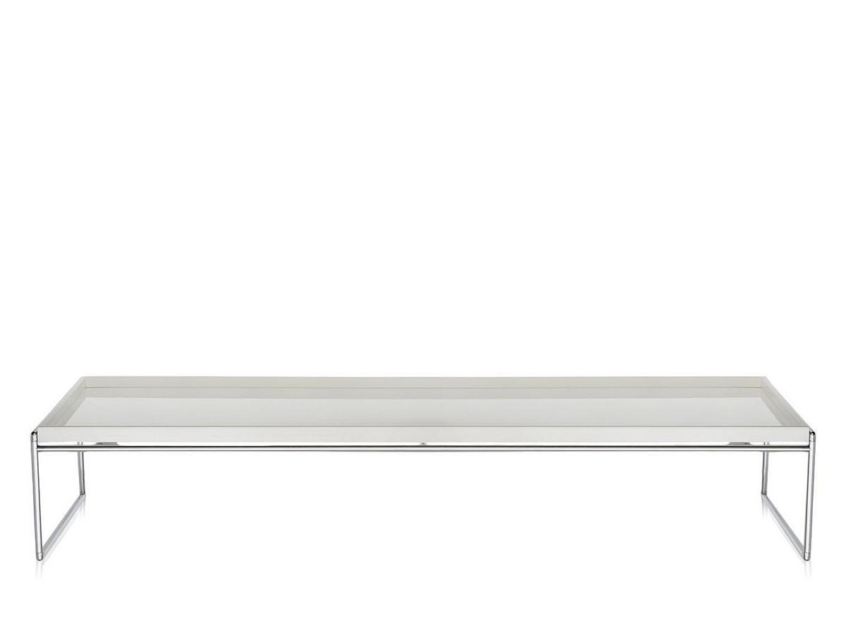 kartell trays table 140 x 40 cm white by piero lissoni. Black Bedroom Furniture Sets. Home Design Ideas