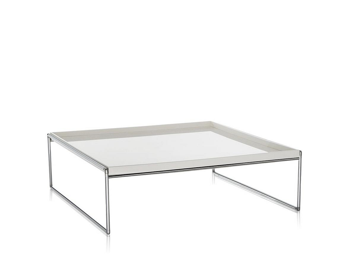 Kartell Düsseldorf kartell trays table 80 x 80 cm white by piero lissoni designer