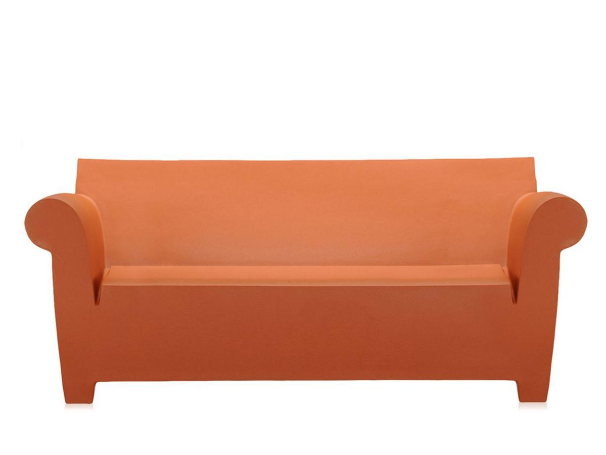 kartell bubble club sofa terracotta by philippe starck. Black Bedroom Furniture Sets. Home Design Ideas