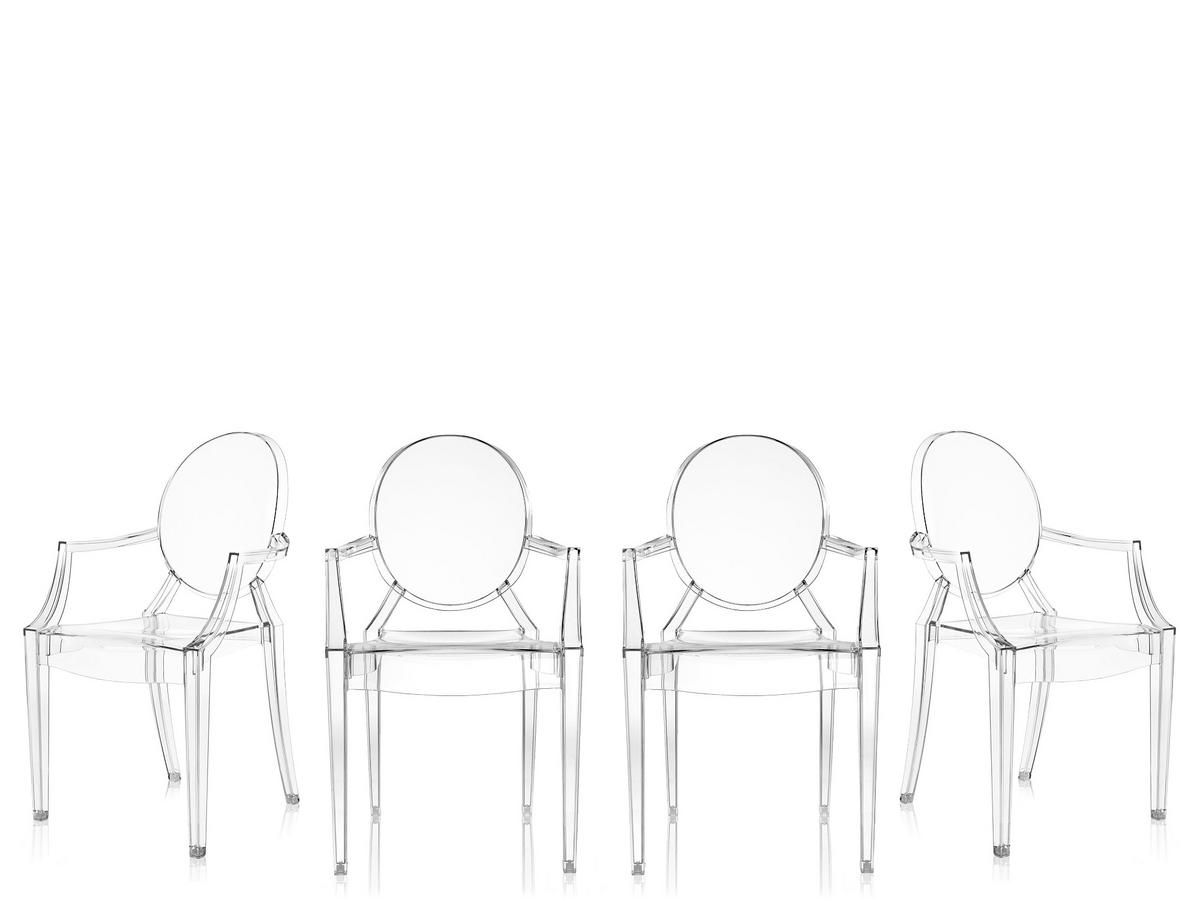 Kartell Louis Ghost Set Of 4 By Philippe Starck 2002 Designer