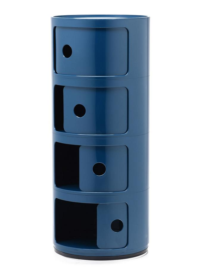 Kartellponibili Eckig kartell componibili 4 compartments blue by castelli
