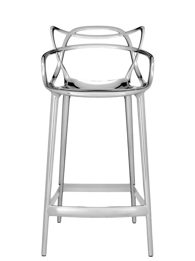 Masters Bar Stool Metallic Chrome