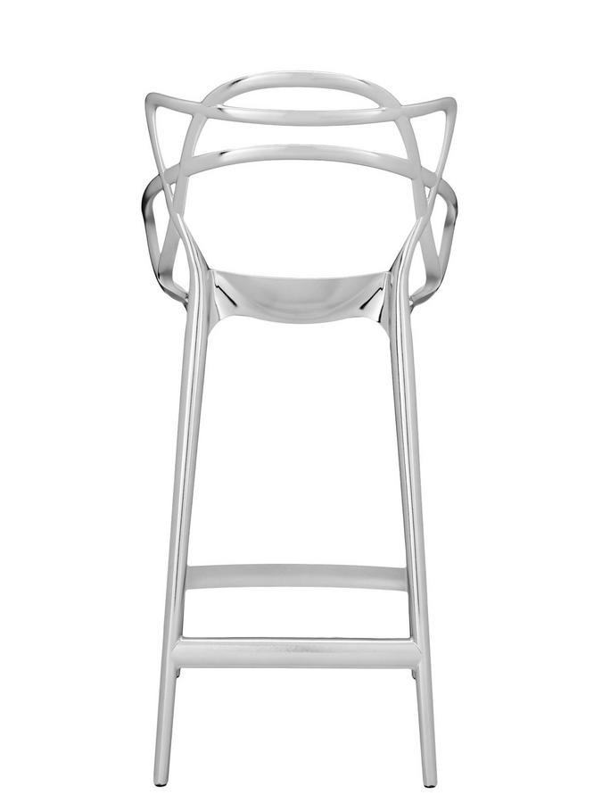 kartell masters bar stool metallic by philippe starck. Black Bedroom Furniture Sets. Home Design Ideas