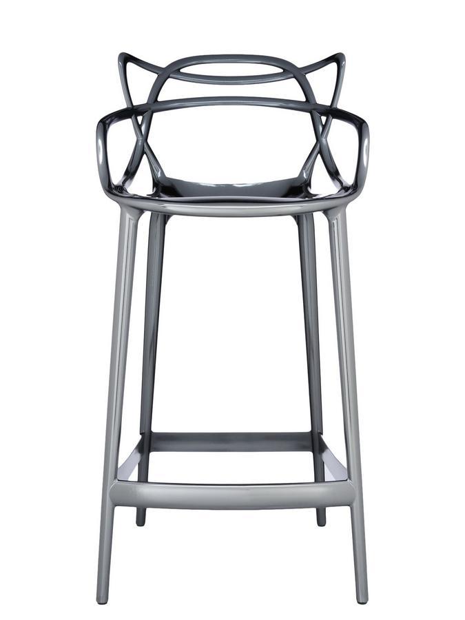 Kartell Barhocker kartell masters bar stool metallic titanium by philippe starck