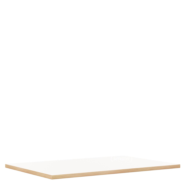 Table Top For Eiermann Frames White Melamine With Oak Edge 160 X 80 Cm