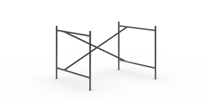 Eiermann 2 Table Frame  Black|Vertical,  offset|100 x 78 cm|Without extension (height 66 cm)