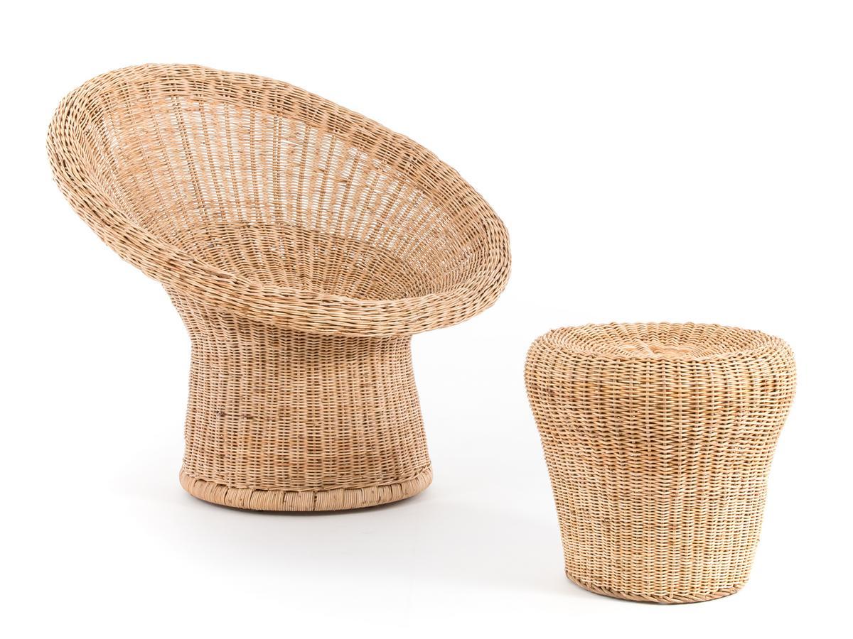richard lampert rattan stool e 14 by egon eiermann 1957. Black Bedroom Furniture Sets. Home Design Ideas