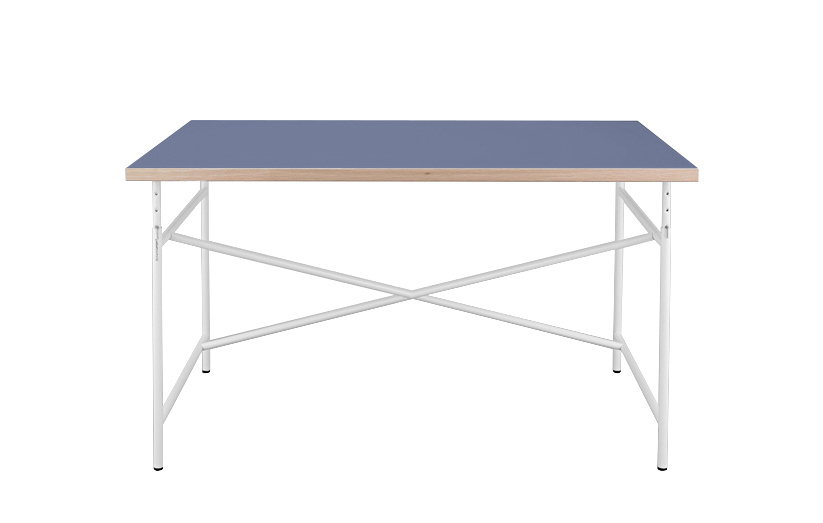 richard lampert children 39 s table eiermann 120 x 70 cm linoleum blue with oak edges white by. Black Bedroom Furniture Sets. Home Design Ideas