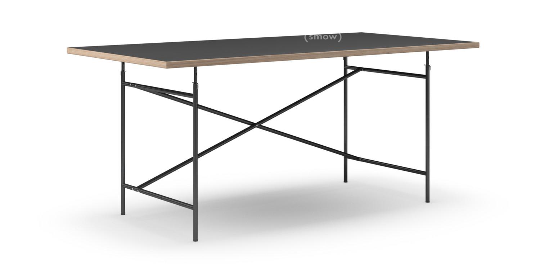 Richard Lampert Eiermann Table Linoleum Black Forbo 4023 With Oak