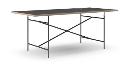 richard lampert eiermann table linoleum black with oak. Black Bedroom Furniture Sets. Home Design Ideas