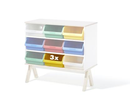 Set of 3 plastic boxes for Famille Garage (big) Yellow