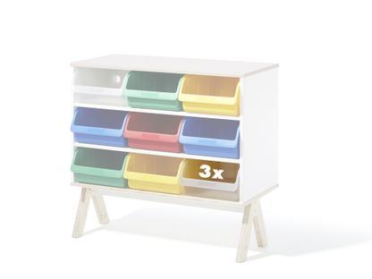 Set of 3 plastic boxes for Famille Garage (big)