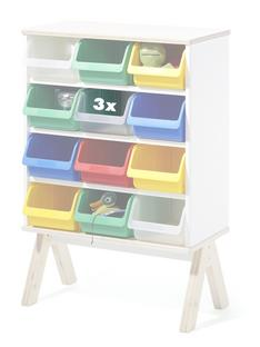Set of 3 Plastic Boxes for Famille Garage (Small)