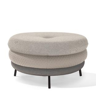 Pouf Fat Tom 3-layer, with legs|Beige
