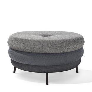 Pouf Fat Tom 3-layer, with legs|Grey
