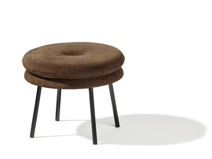 Stool Little Tom 2-layer|Suede leather mocca