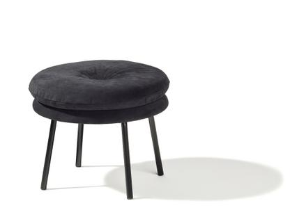 Stool Little Tom 2-layer|Suede leather black