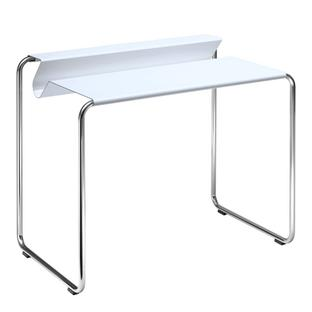 PS07 Secretary Signal white (RAL 9003)|Without desk pad|chromed