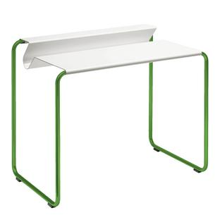 PS07 Secretary Pure white (RAL 9010)|Without desk pad|Grass green (RAL 6010)
