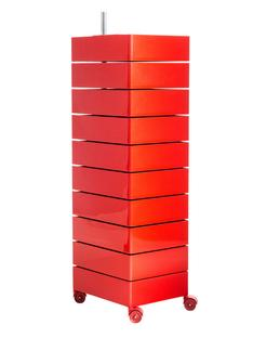 Rollcontainer Rot magis 360 container 1270 mm 10 shelves by konstantin grcic