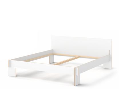 Siebenschläfer 180 x 200 cm|With headboard|White|Without slatted base