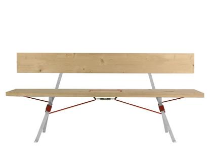 Kampenwand Bench With Backrest Outdoor - Red rope