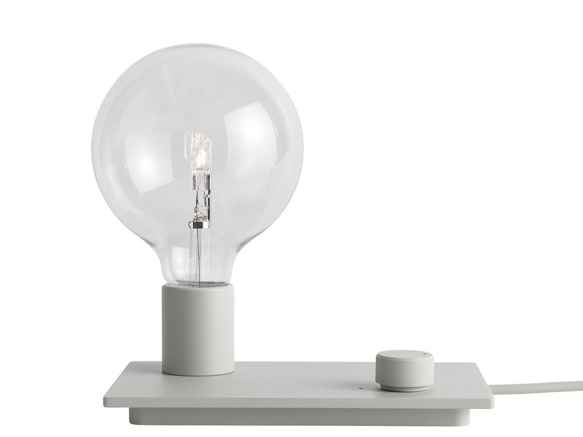 Muuto E27 Hanglamp : Muuto control table lamp grey with led illuminant by taf