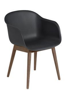 Fiber Armchair Wood Black / dark brown