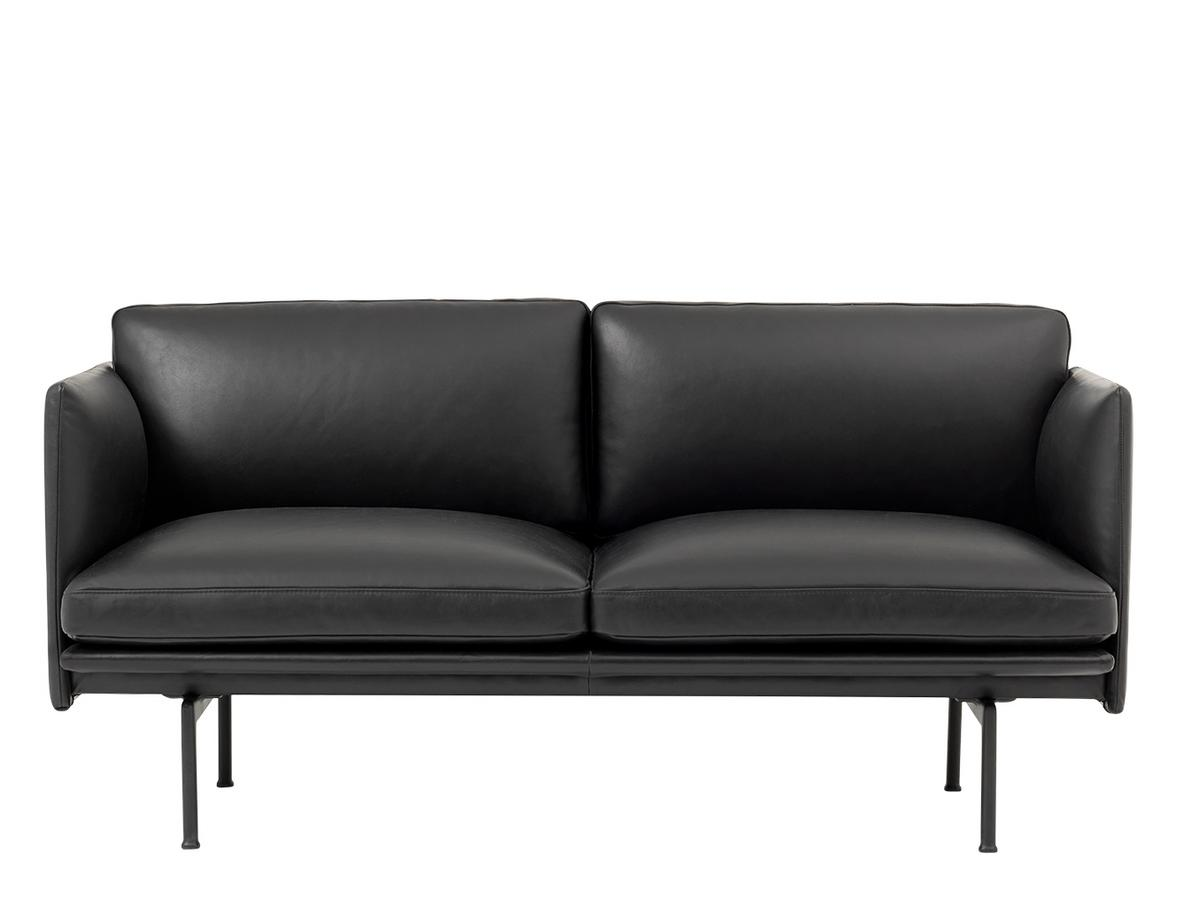 muuto outline studio sofa leather black by anderssen. Black Bedroom Furniture Sets. Home Design Ideas