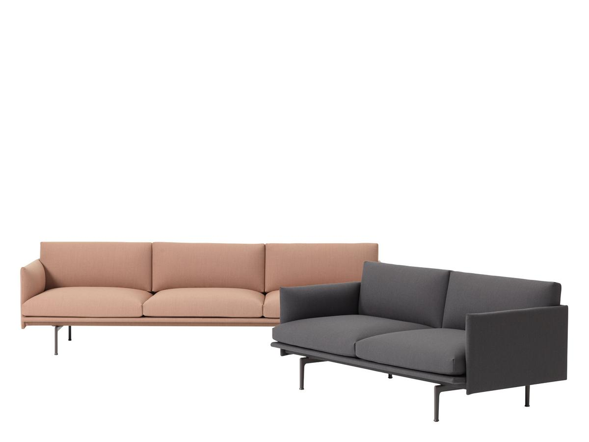 Muuto Outline Sofa Twill Edition Smow Exclusive 3 Seater