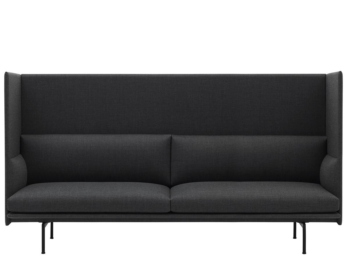 Muuto Outline Highback Sofa 3 Seater Fabric Remix 163 Grey By
