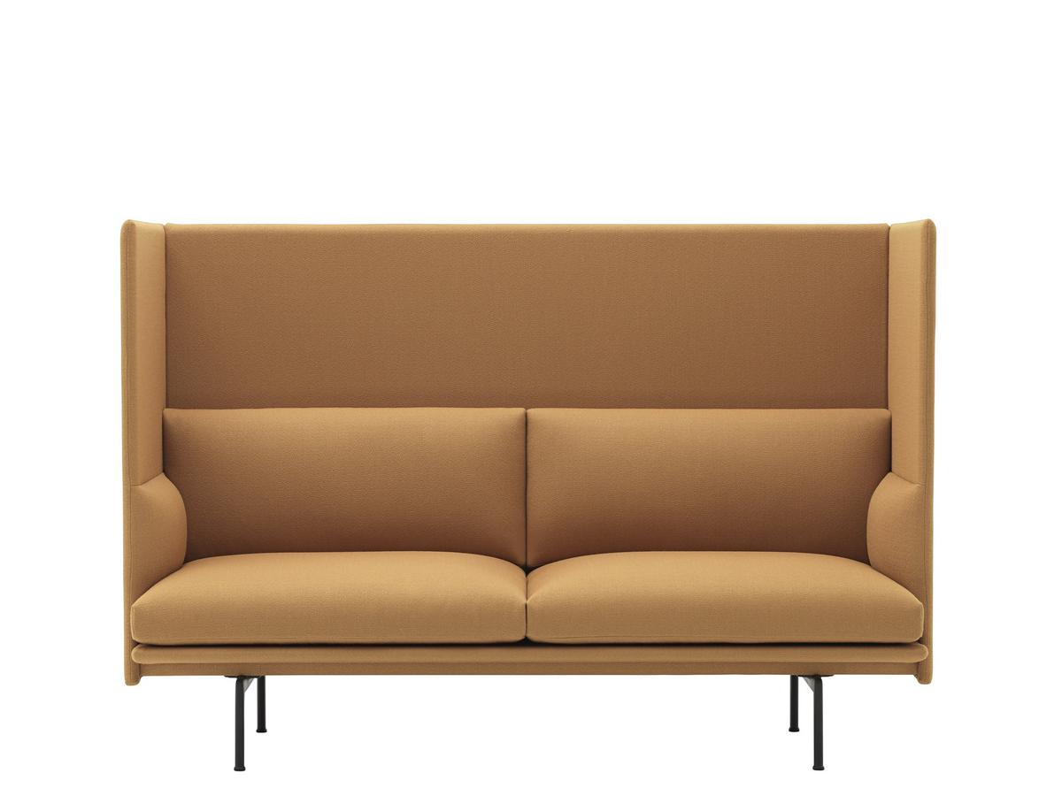 Muuto Outline Highback Sofa 2 Seater Fabric Vidar 472 Mustard
