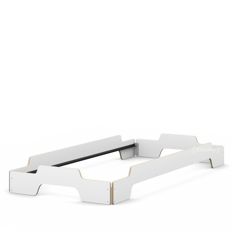 Müller Möbelwerkstätten Stacking Bed, 90 x 200, White birch, edges ...