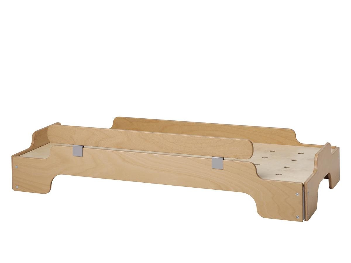 Kids Stacking Bed With Saftey Board Natural Beech