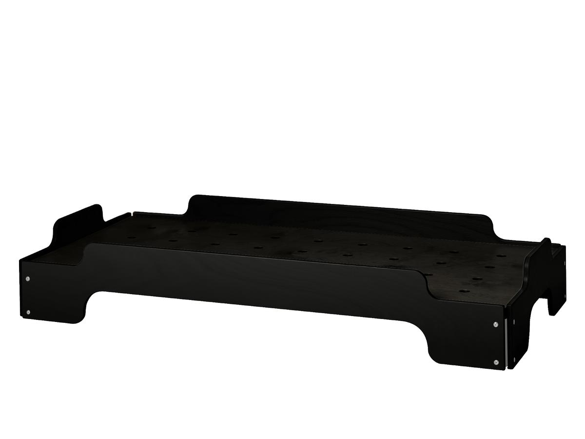 Kids Stacking Bed Without Saftey Board|Beech, Graphite Black Lacquered