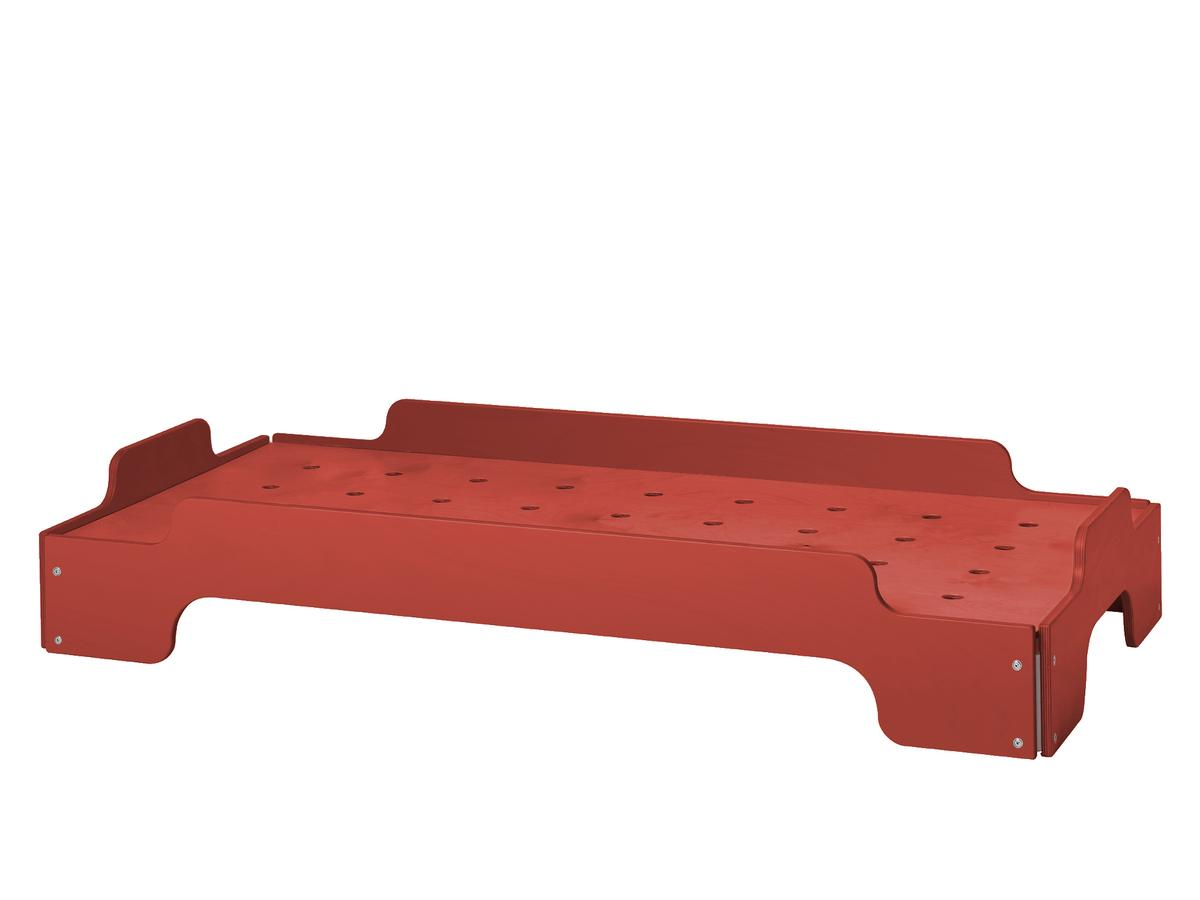 red lacquered furniture. Kids Stacking Bed Without Saftey Board Beech, Tomato Red Lacquered Furniture