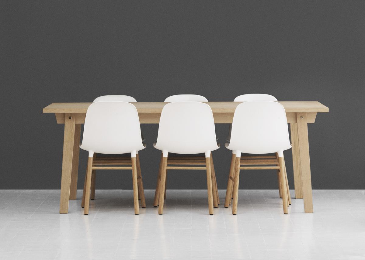 normann copenhagen form chair white oak by simon legald 2014 designer furniture by. Black Bedroom Furniture Sets. Home Design Ideas
