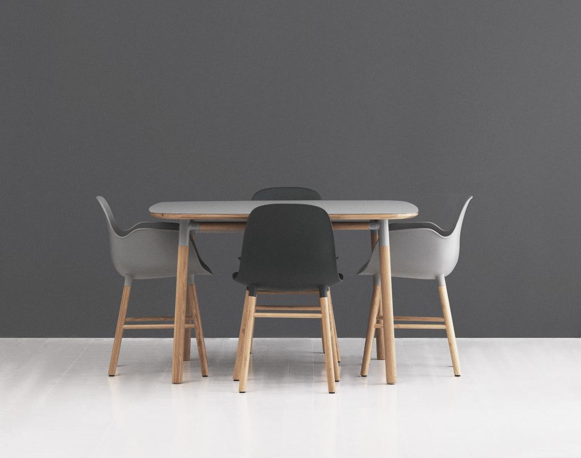 Normann copenhagen form armchair by simon legald 2014 for Html form table