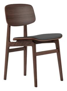 NY11 Dining Chair Dark smoked oak - premium black leather