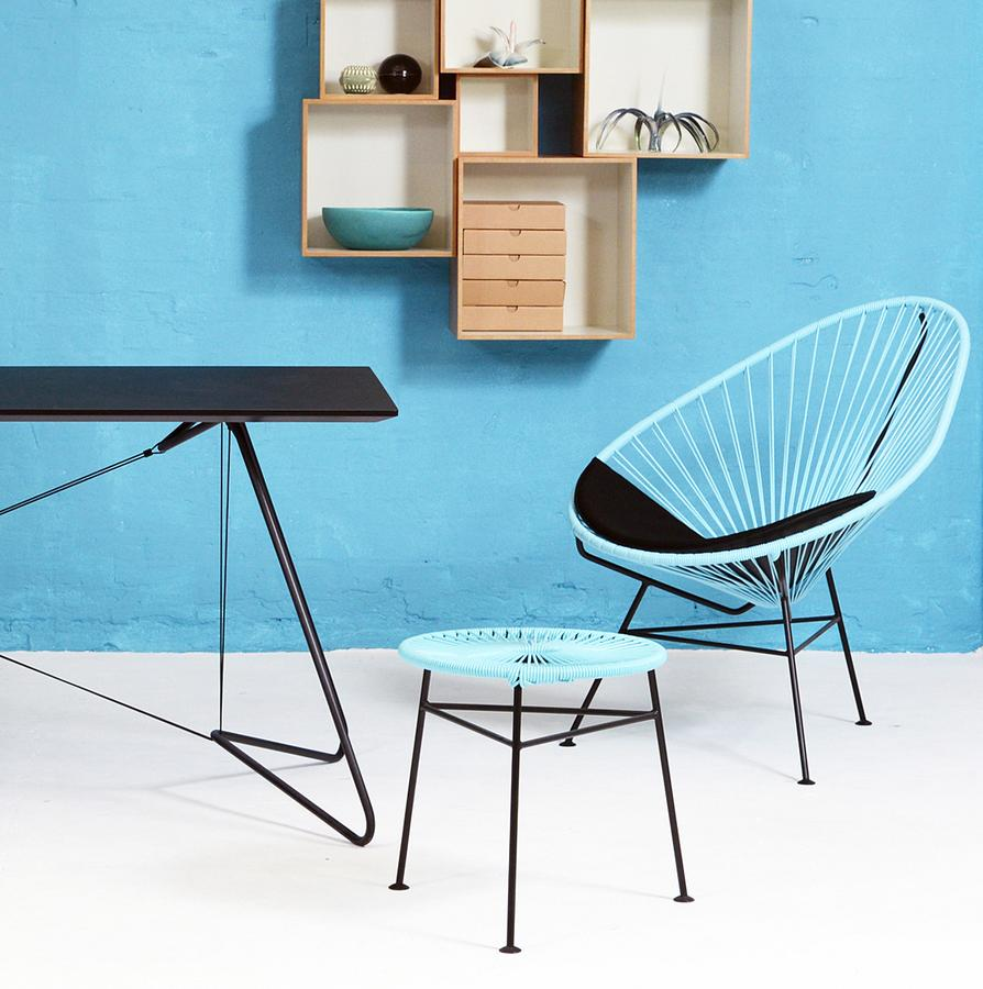 Acapulco chair living room - Centro Stool Side Table