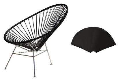 Acapulco Chair Stainless Steel Black