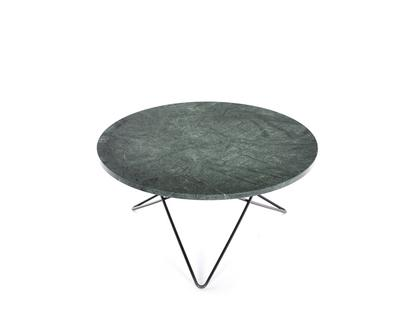 O Table Green Indio|Steel, black powder-coated