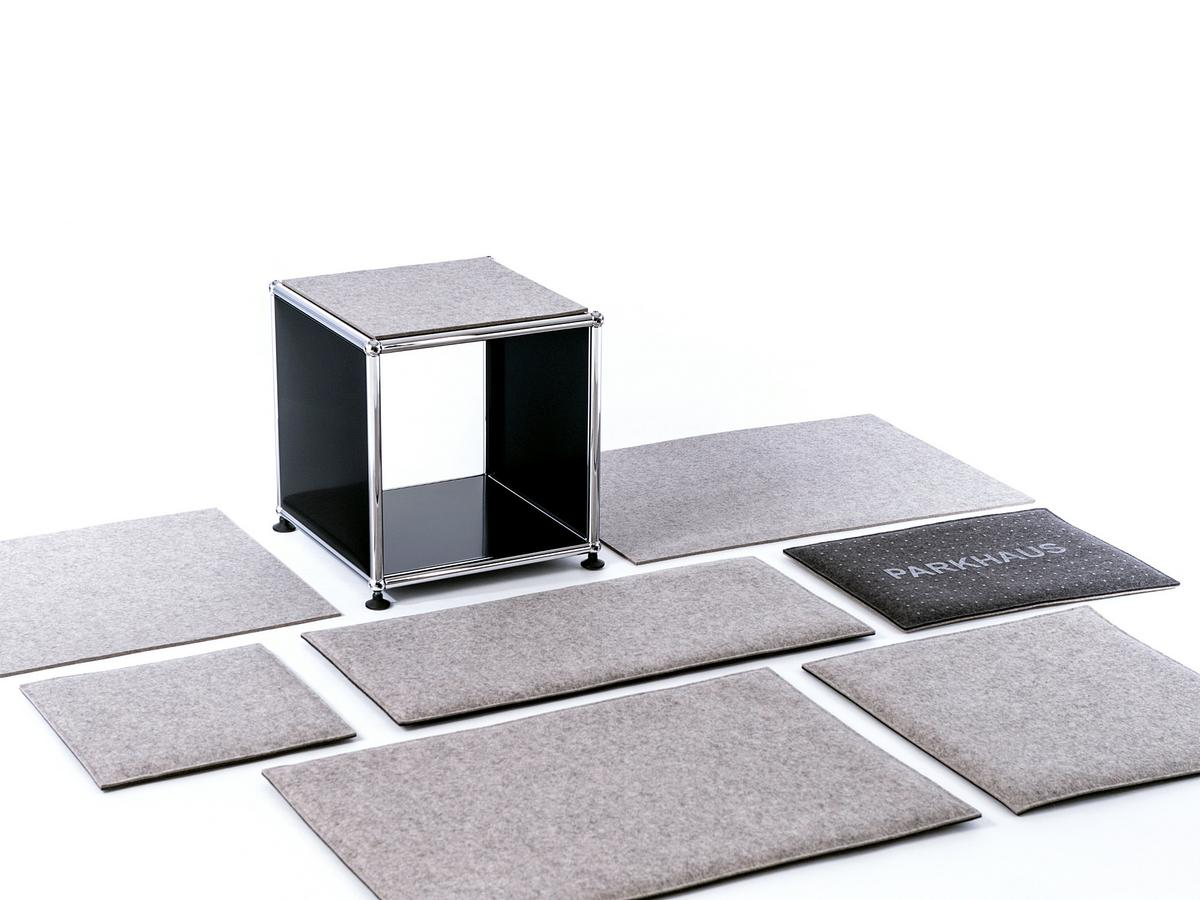 parkhaus berlin felt coasters for usm haller shelf by parkhaus berlin designer furniture by. Black Bedroom Furniture Sets. Home Design Ideas