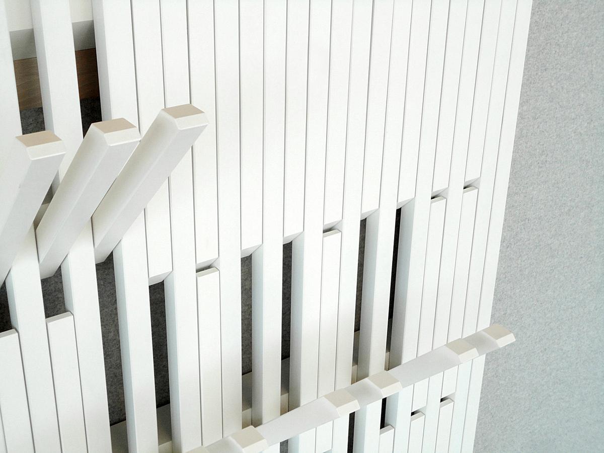 Peruse piano coat rack by patrick seha designer for Designer garderobe