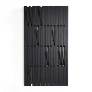 Piano Coat Rack H 147 x W 81 cm|Oak black lacquered