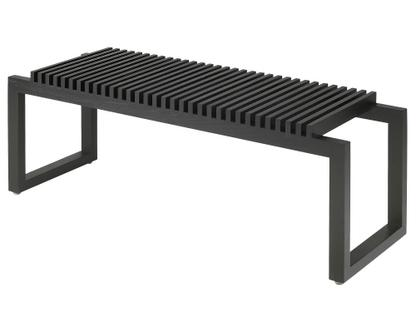 Cutter Bench Black lacquered oak