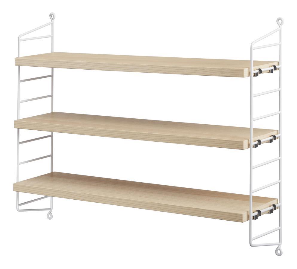 String Regal München string pocket shelves ash panels white by nisse strinning 2005