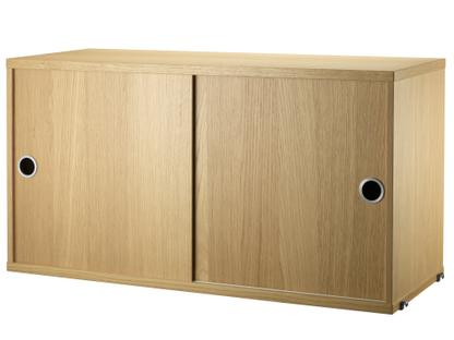 String System Cabinet With Sliding Doors